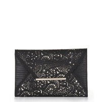 BCBGMAXAZRIA HARLOW LASER-CUT ENVELOPE CLUTCH