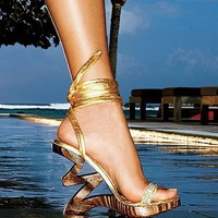 Zig-zag Wedge Sandal - Two Lips