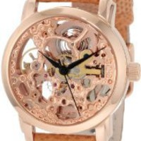 Amazon.com: Akribos XXIV Women's AKR431RG Diamond Rose Gold Swiss Quartz Floating Watch: Watches
