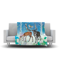 "Mat Miller ""Glade"" Fleece Throw Blanket 