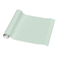 Light Green Chevron Wrapping Paper