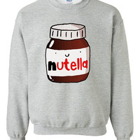 Nutella Chocolate Sweater Sweatshirt by UniqFashion on Etsy
