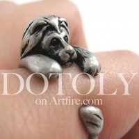 Miniature Lion Animal Ring in Silver - Sizes 4 to 9 Available | dotoly - Jewelry on ArtFire