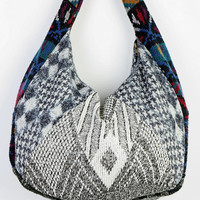 Urban Renewal Pattern-Block Sweater Hobo Bag - Urban Outfitters