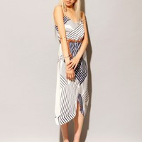 Silk stripe midi dress [Myn1944] - $282 : Pixie Market, Fashion-Super-Market
