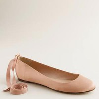 Women's shoes - ballets - Paulina ankle-tie ballet flats - J.Crew