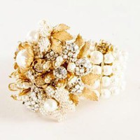 Women's jewelry - fine jewelry collection - Miriam Haskell?- pearl cuff - J.Crew
