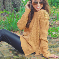 Ark & Co: She's A Stud Sweater: Tan | Hope's