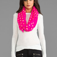 Juicy Couture Double Dot Print Oblong Scarf in Beauty