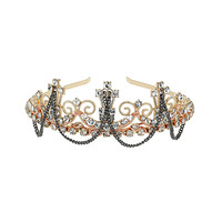 Gold Crown With Rhinestones - New In This Week  - New In