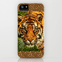 GAZE OF THE TIGER iPhone & iPod Case by catspaws
