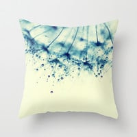 droplets of aqua Throw Pillow by ingz