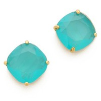 Kate Spade New York Small Square Stud Earrings in Teal