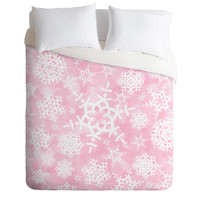 DENY Designs Home Accessories | Lisa Argyropoulos Snow Flurries in Pink Duvet Cover
