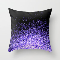 infinity in purple Throw Pillow by Marianna Tankelevich
