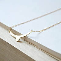 Chevron Necklace - Geometric Jewelry