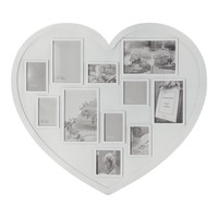 Heart Shaped Multi Aperture Frame 46cm x 53cm