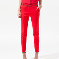 TROUSERS WITH TURN-UP HEM - Woman - New this week - ZARA United States