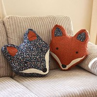 Vintage Inspired Fox Cushion