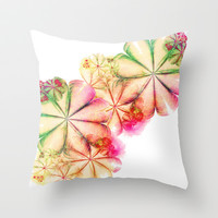 Fractal Flora Throw Pillow by Ally Coxon