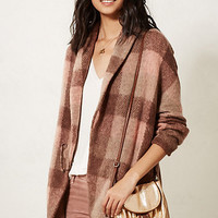 Woodland Plaid Sweater Coat