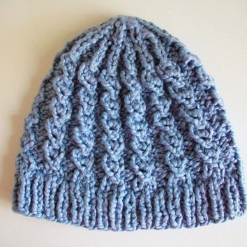 Free Crochet Hat Patterns For 1 Year Old : Mock Cable Knitted Hat Pattern PDF from Bluestockinette