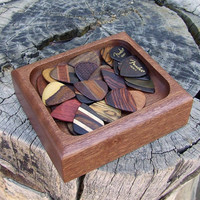 Handmade Guitar Pick Tray, Dish, Holder, Etc. Solid Sapele Wood
