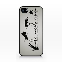 Disney Peter Pan forever young, 2d Printed Black hard case, iPhone 4 case, iPhone 4s case, snap on hard case cover