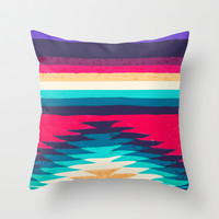 SURF GIRL Throw Pillow by Nika