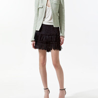 FANTASY BLAZER WITH GATHERED SHOULDER - Blazers - Woman - ZARA United States
