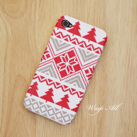 Christmas cross stitch pattern iPhone 5 case / iPhone 5S case / iPhone 4  case / iPhone 4s case / iPod touch 5th Gen case