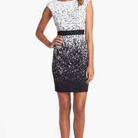 Maggy London Print Ponte Knit Sheath Dress | Nordstrom