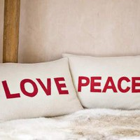 Love and Peace Cushions ? Cox & Cox, the difference between house and home.