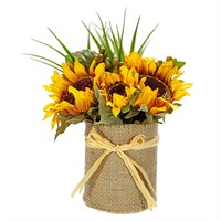 Allstate Floral & Craft Sunflower Burlap Floral Arrangement at Von Maur