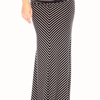 Chevron Striped Maxi Skirt - Spotted Moth