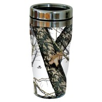 Tree-Free Greetings 77614 Winter by Mossy Oak Camo Vintage Art Sip 'N Go Travel tumbler, 16-Ounce, Stainless Steel, Multicolored