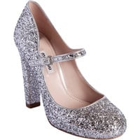 Miu Miu Glittered Round Toe Mary Jane at Barneys New York at Barneys.com