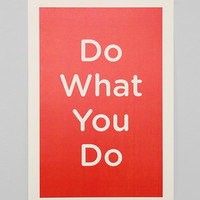 Nous Vous Do What You Do Art Print - Urban Outfitters