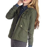 Jack by BB Dakota Take to the Lake Jacket in Green | Mod Retro Vintage Jackets | ModCloth.com