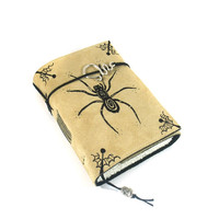 Spider, Journal, Leather, Handmade, Suede, Diary