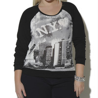 NY City Pullover Sweatshirt | Shop Jr. Plus at Wet Seal