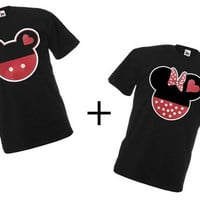 Mickey and Minnie Couples Matching Shirts from Disney, Two T-shirts For 24.99  perfect for love gifts
