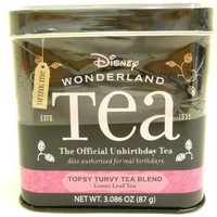 Alice in Wonderland the Official Unbirthday Tea Disney Parks Exclusive Topsy Turvy Tea Blend Loose Leaf Tea