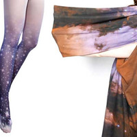 SALE. Stardust Ombre Tights and Eagle Nebula by Shadowplaynyc
