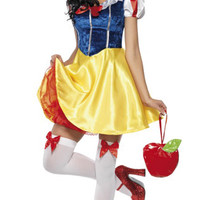 Little red riding hood costume, disney costume, apple basket accessory, blue and yellow costume , disney princess costume