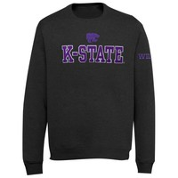 Kansas State Wildcats Doubleshot Fleece Crew Sweatshirt - Charcoal