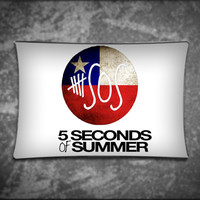 Unique Pillow Cover, SOS 5 Second Of Summer Band, Suitable For Any Age, Soft, Comfortable, Stylish