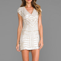 Parker Sequin Serena Dress in Blush