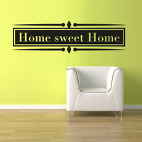 Wall Vinyl Sticker Decals Decor Art Bedroom Design Mural Words Sign Quote Sweet home (z969)