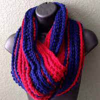 Hand Crocheted Neck Warmer. Unisex Neck warmer. University of Arizona wildcats.